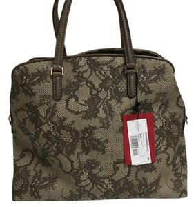 Valentino Satchel in Brown/Beige Lace print