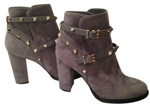 Valentino Studded Suede Grey Boots