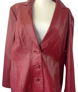 East 5th Essentials Red Leather Jacket