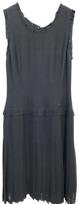 Item - Black Couture Inspired Lbd Knee Length Short Casual Dress Size 4 (S)