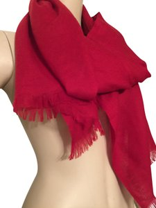 Christopher Fischer red 100% cashmere scarf