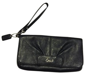 Coach Clutch Wristlet in Black/Silver