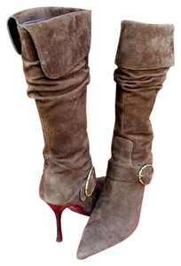 Guess Brown Suede Leather Boots