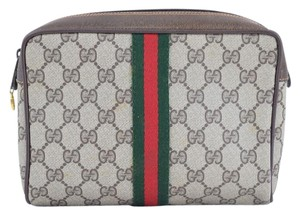 Gucci Gg Logo Cosmetic Pouch Vanity Case Evening Clutch