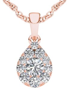 Elizabeth Jewelry 10Kt Rose Gold 0.50 Ct Diamond Pear Pendant
