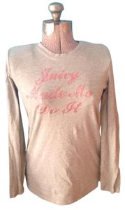 Juicy Couture Glitter Cotton Top Grey and pink
