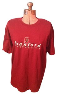 Gildan Stanford University Cotton T Shirt Burgundy