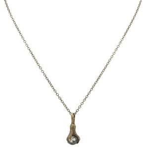 House of Harlow 1960 Talon Necklace with Black Pearl