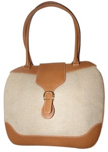 Gucci Large And Roomy Satchel in natural canvas/camel leather
