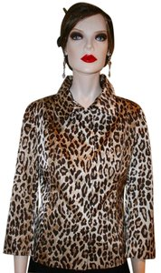 Dolce&Gabbana Satin Silk BEIGE, CREAM AND BROWN LEOPARD Jacket