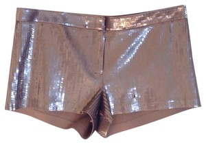 Express Sequin Cotton Stretchy Dress Shorts Gold