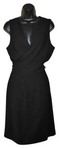 Jones New York Wrap Sleeveless Zipper Lined Dress