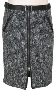 Giorgio Armani Grey Tweed Sequins Skirt BLACK AND WHITE