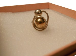 Jenni K Jewelry Sterling Silver & 12K Gold 2 Ball Ring. Adorable as a Pinky Ring. Size 4/5.