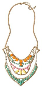 Anthropologie Multi Color Sugar Coated Statement Necklace
