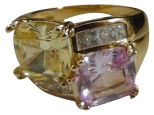 Victoria Wieck Victoria Wieck Absolute Vermeil Pink and Canary Color Ring Size 7