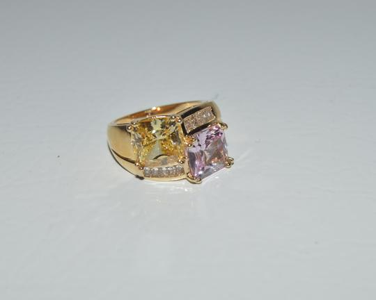 Victoria Wieck RARE Victoria Wieck Absolute Pink and Canary Color Ring Size 7