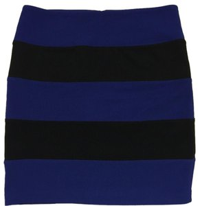 Forever 21 Mini Skirt Black/Blue