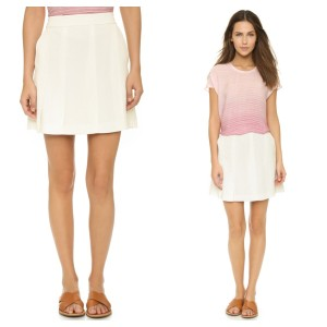 Vince Mini Skirt Cream