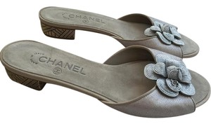 Chanel Gold Sandal Mulled Gold/Silver Mules