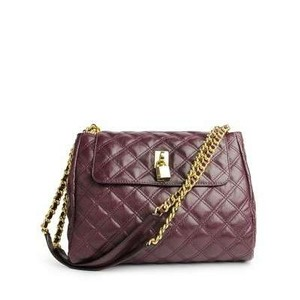 Marc Jacobs Leather Purple Shoulder Bag