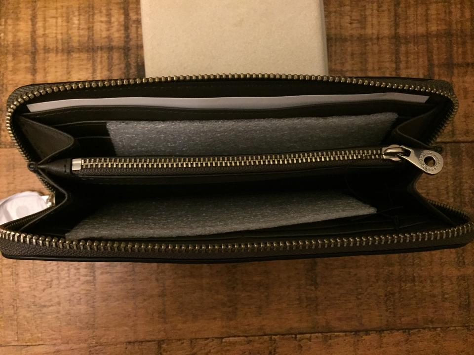 Hot Clutch Too Jacobs Faded Slim Handle To around Marc Wallet Marc by Zip New Leather Aluminum qaR1XaZw