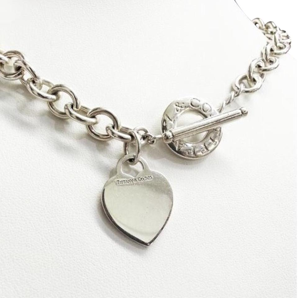 Tiffany And Company Toggle Necklace: Tiffany & Co. Toggle And Heart Sterling Silver 16