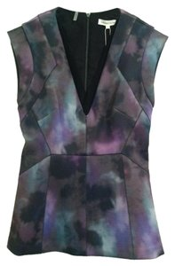 Rebecca Taylor Top Purple Black Green