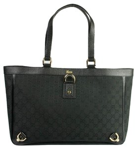 Gucci 141472 Black Satchel in Black/Gold
