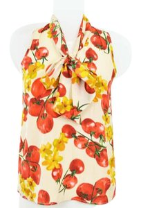 Everly Tomato Vegetable Unique Pattern Anthropologie Top Multi