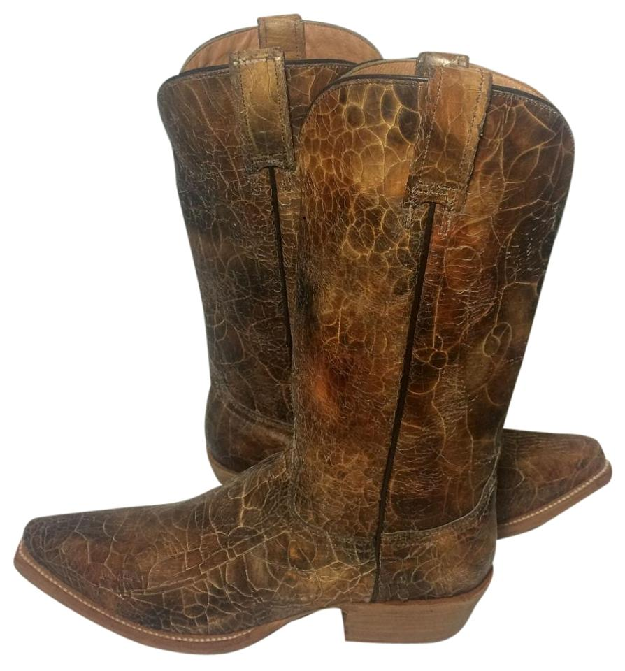 Stetson Brown Leather Cowboy Western Cowgirl Cowboy Leather Women's Boots/Booties 6a83a3