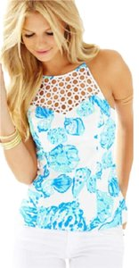 Lilly Pulitzer Top Resort White Barefoot Princess