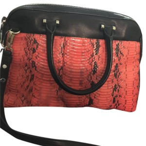 MILLY Satchel in Black & Coral