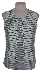 Calvin Klein Scarf Print Shell Casual Resort Geometric Top