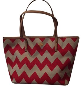 Kate Spade Tote in Red/White