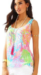 Lilly Pulitzer Top MULTI LOVERS CORAL