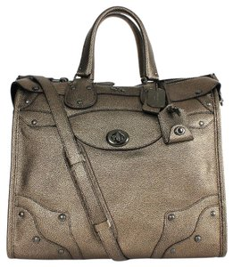 Coach Rhyder Metallic Shimmer Large Satchel in Metallic Brass