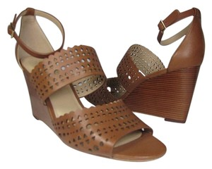 Tory Burch Wedge Perforated brown Sandals