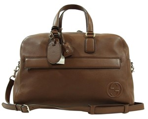 Gucci Duffle Brown Travel Bag