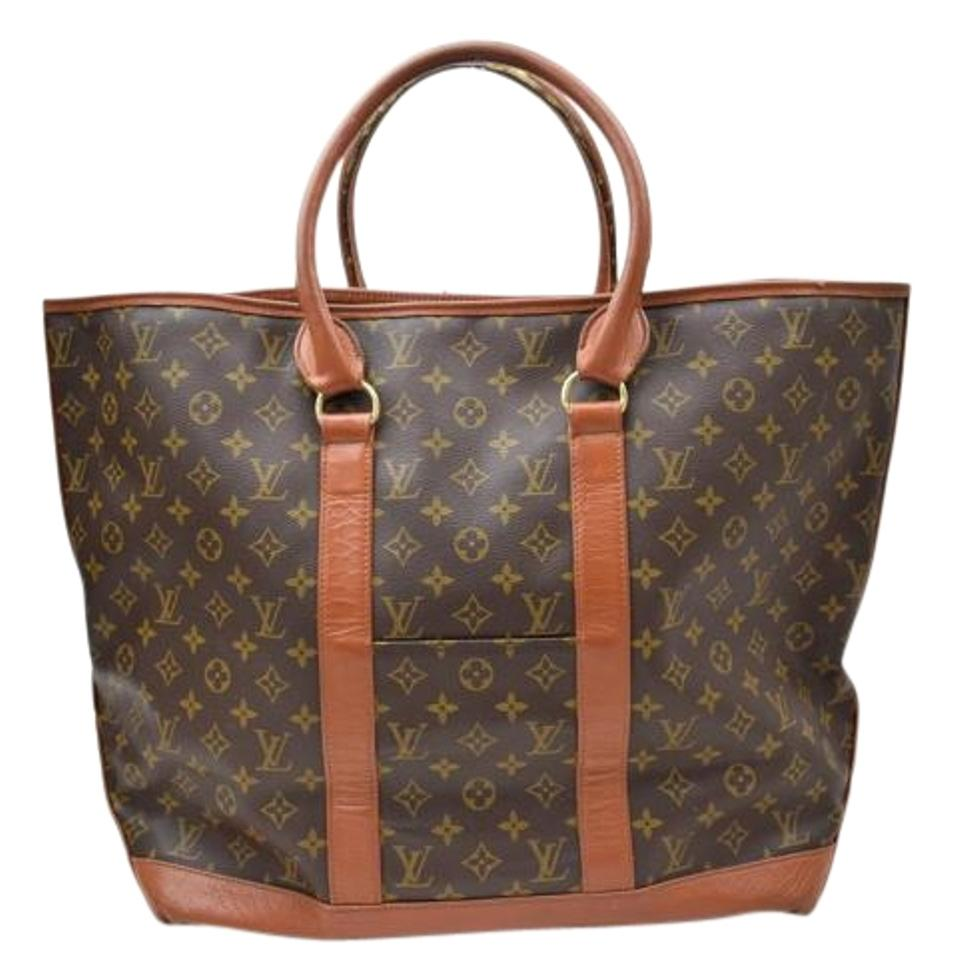 louis vuitton brown mongoram saint cloud weekend travel bag tradesy. Black Bedroom Furniture Sets. Home Design Ideas