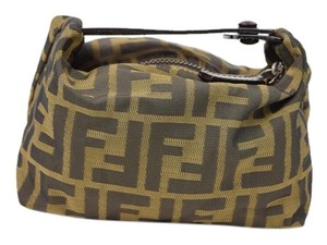 71bd24f9c2f9 Fendi Zucca Top Handle Cosmetic Bag - Tradesy