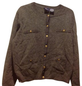 Liz Sport Claiborne Like New Button Up Lambs Wool Sweater