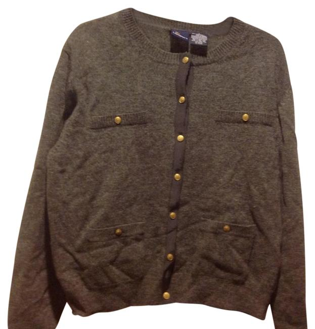 Item - Claiborne Like New. Button Front. Gray Sweater