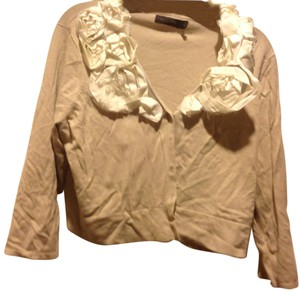 The Limited Brand New Cropped Beige Button Front Sweater
