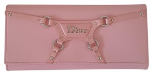 Dior Christian Dior Pink Leather Wallet/Wristlet