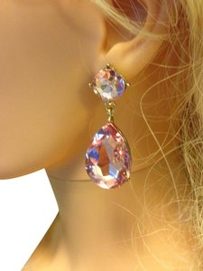 Other Pink Crystal earrings
