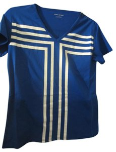 Tory Burch Sport Sport T Shirt Blue and White