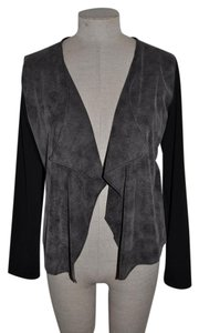 Kenar Vegan Leather Draped Faux Suede Casual Date Night Jacket