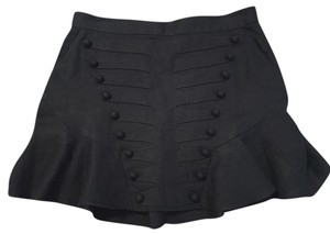 Karl Lagerfeld Mini Linen Sailor Mini Skirt Navy