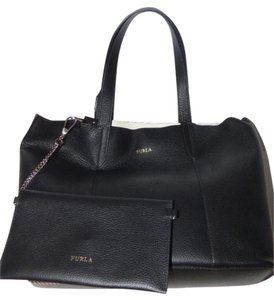 Furla Petite But Roomy Satchel in black leather